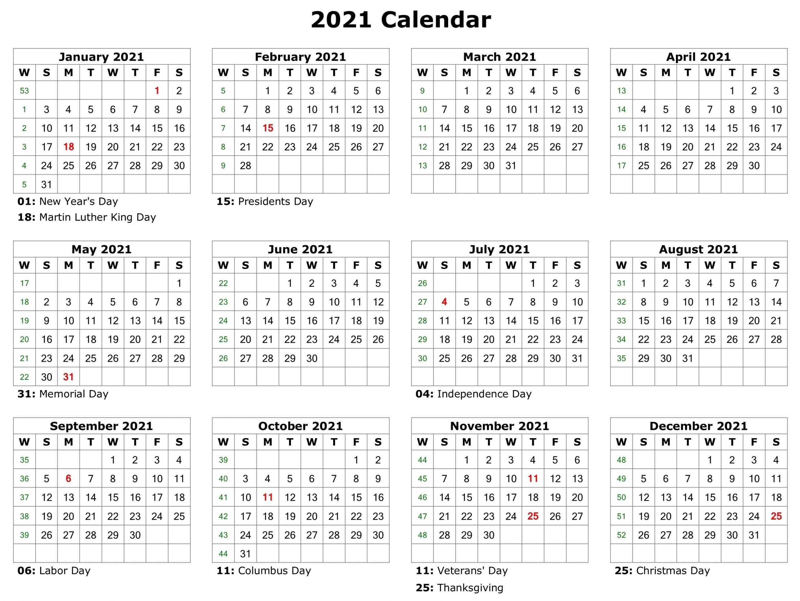Free Printable 2021 Attendance Calendar | Calendar ...