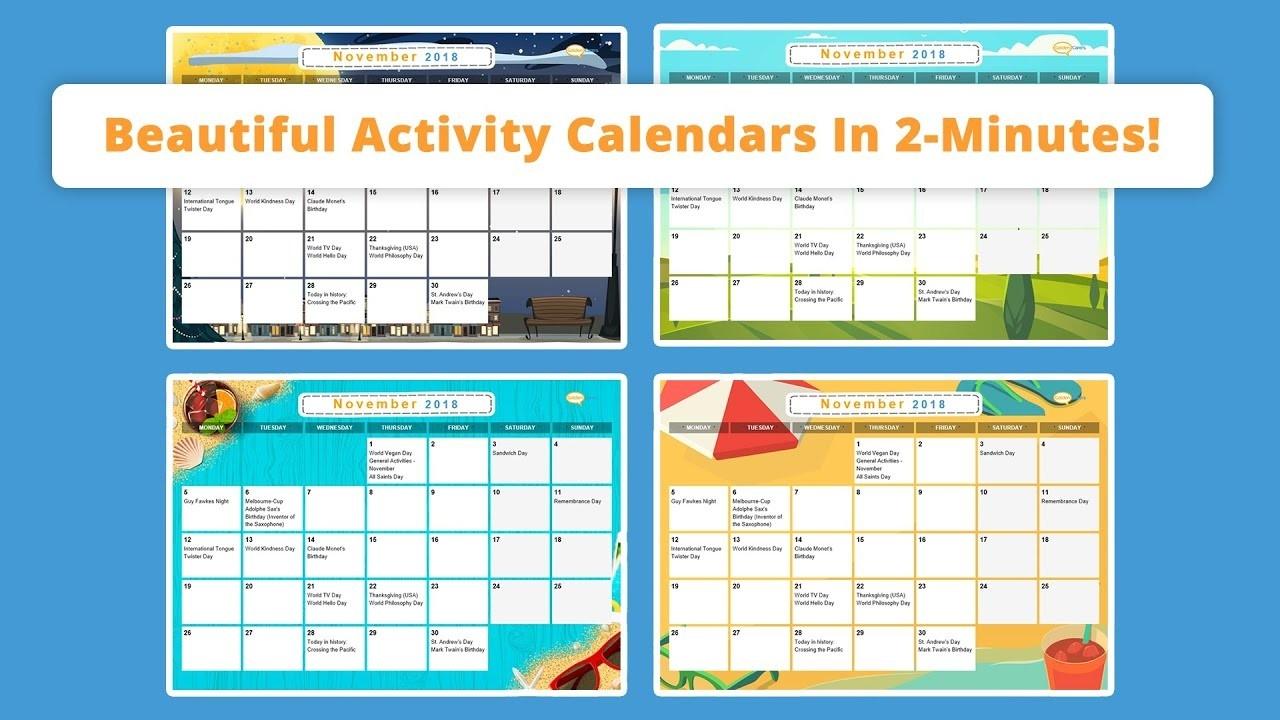 Free Activity Calendar For Seniors-2021 Activity Calendar Printable