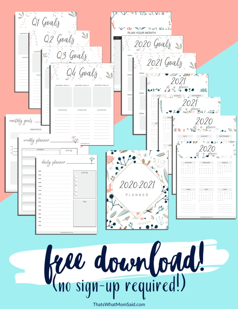 Free Download 2020-2021 Printable Planner (Updated For 2021-Free Printable 2021 Happy Planner
