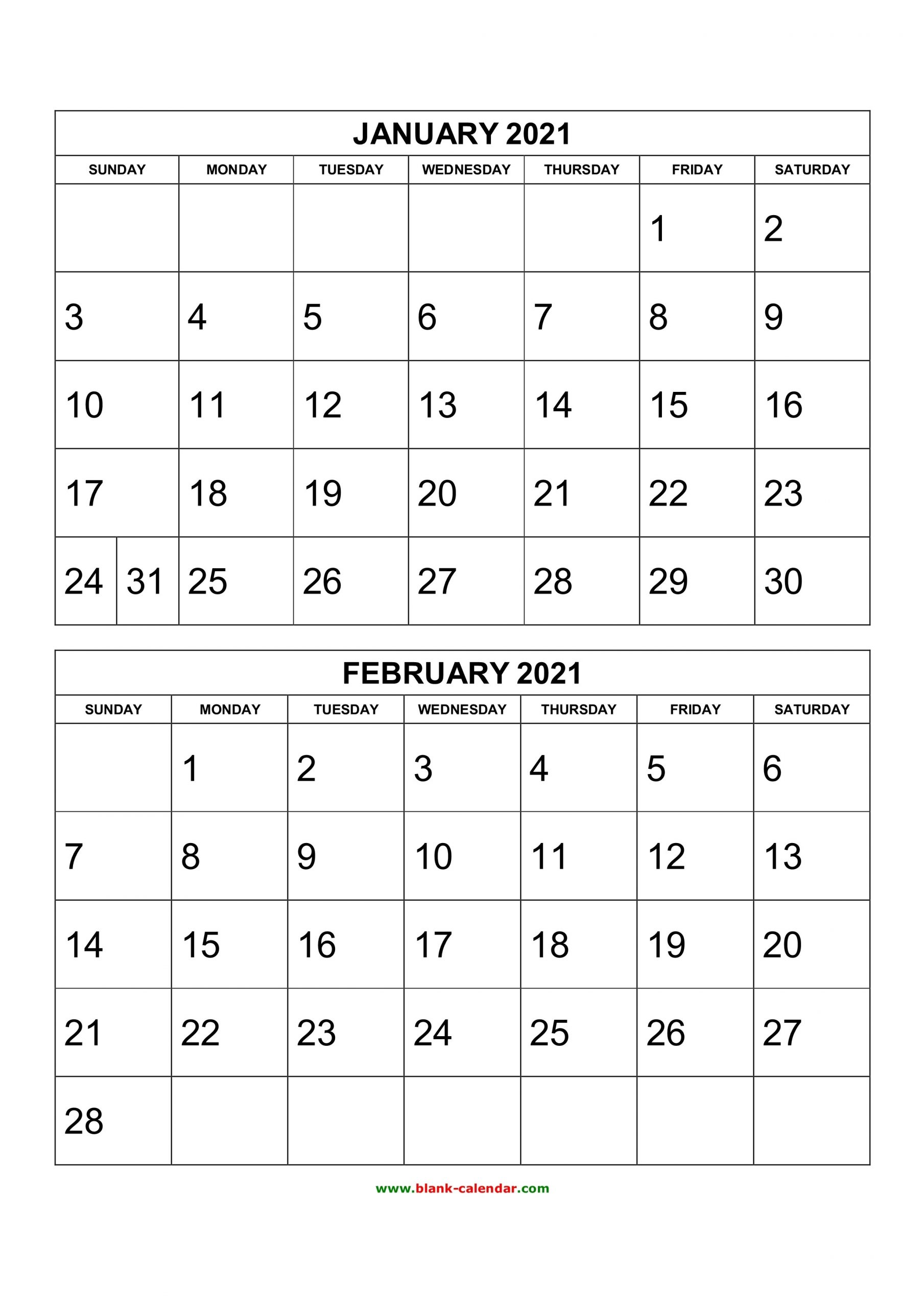 Free Download Printable Calendar 2021, 2 Months Per Page, 6-2021 2 Page Per Month May Calendar Picture