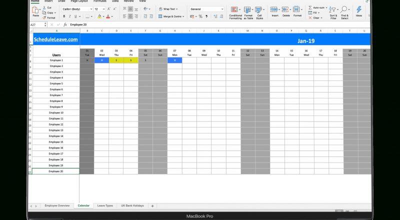 Free Excel Leave Calendar 2021 Spreadsheet Template-2021 Leave Planner Excel Template