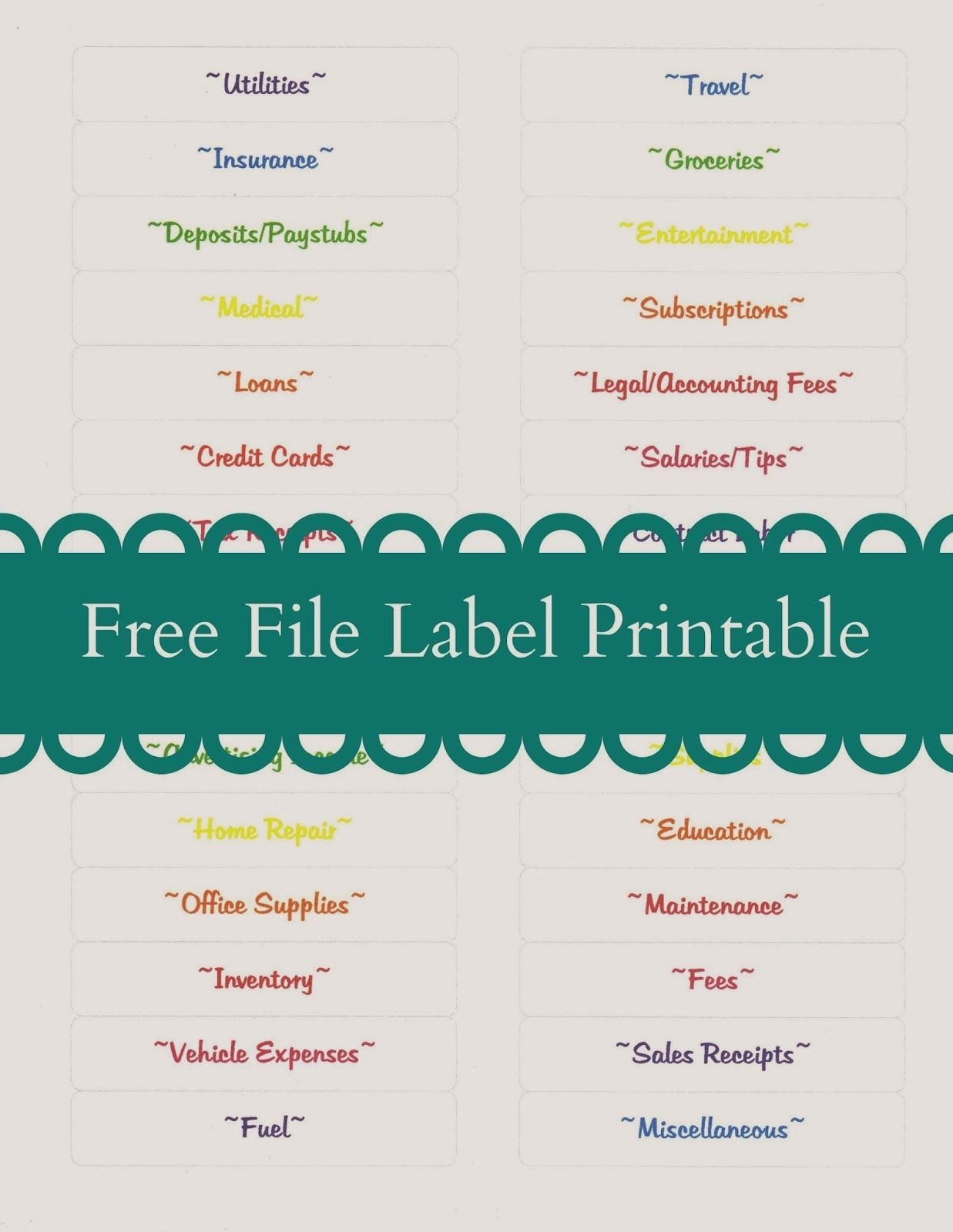 Free File Label Printable + Tax Tips For Bloggers And Small-Free Printout Tax Desk Card