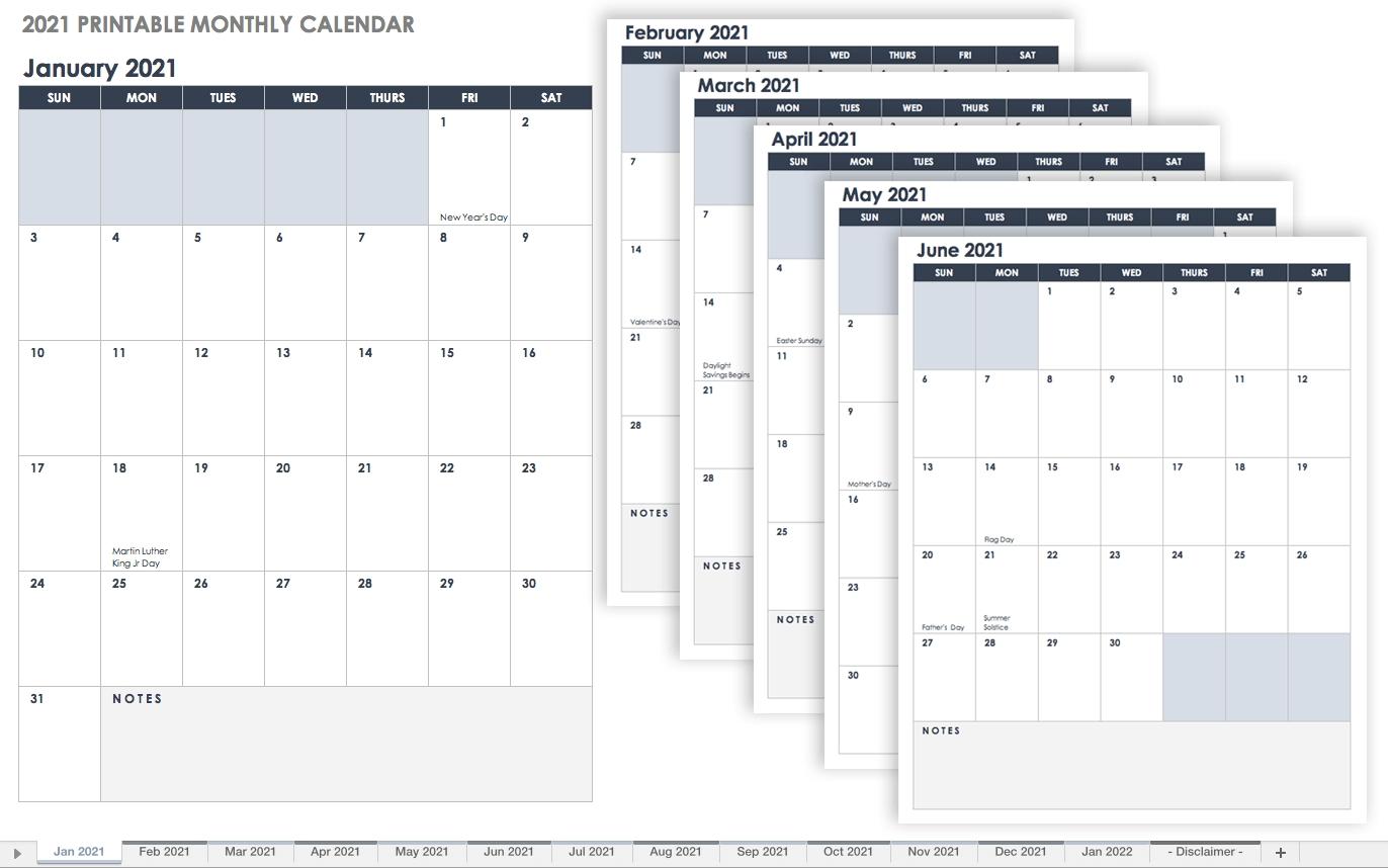 Free Google Calendar Templates   Smartsheet-Employee 2021 Yearly Vacation Calendar