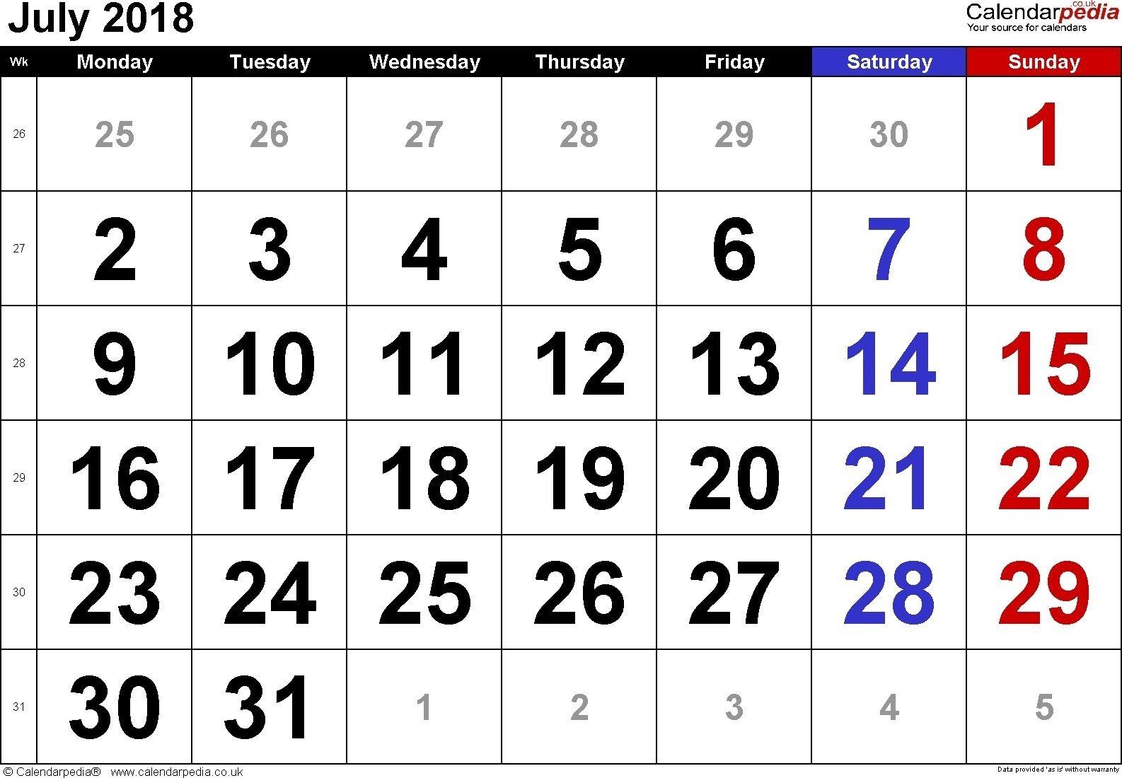Free Printable Calendar Large Numbers   Printable Calendar-Printable Calendars Large Numbers