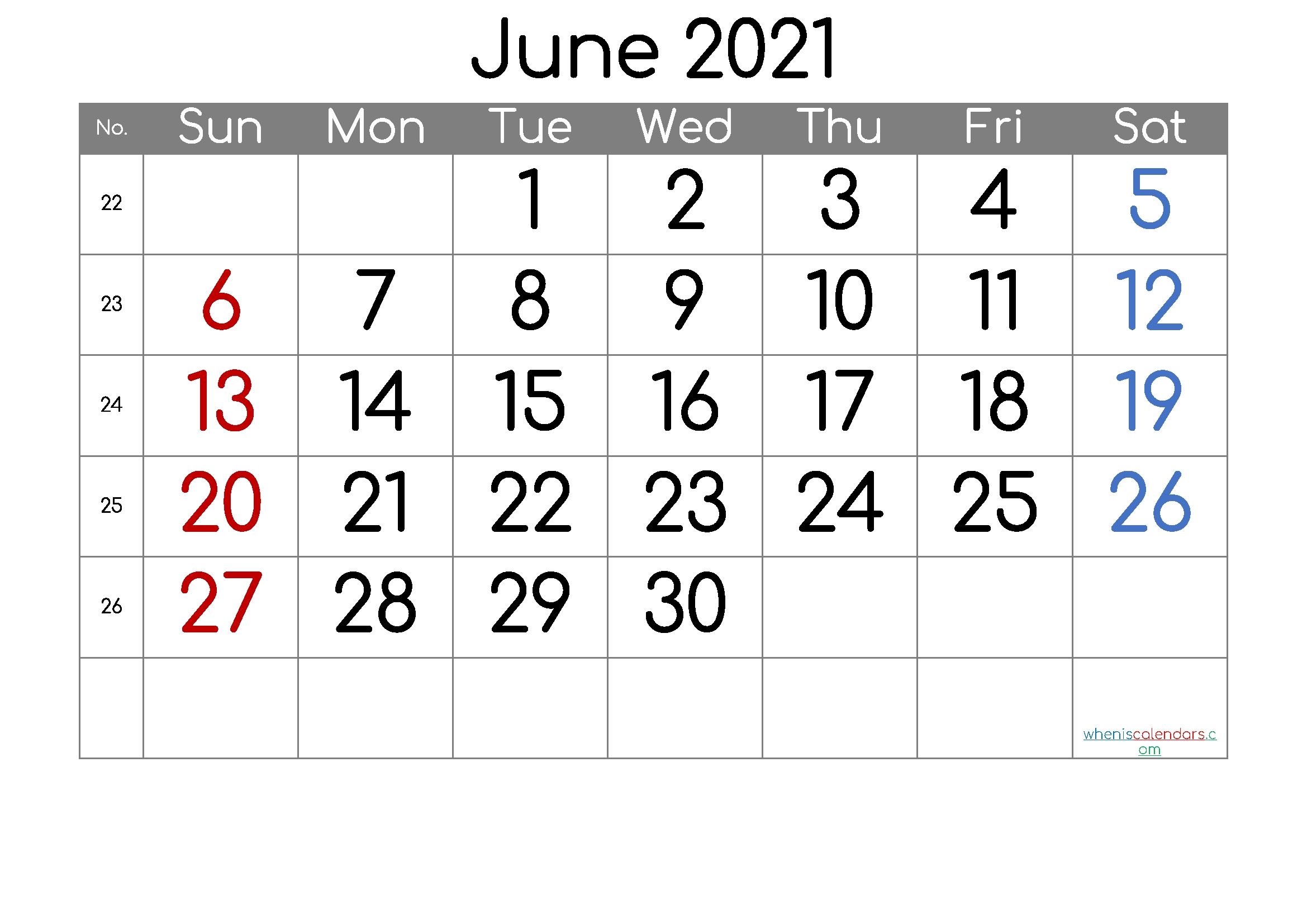Free Printable June 2021 Calendar (Premium) In 2020-4 Inch By 7 Inch 2021 .Pdf Calendar