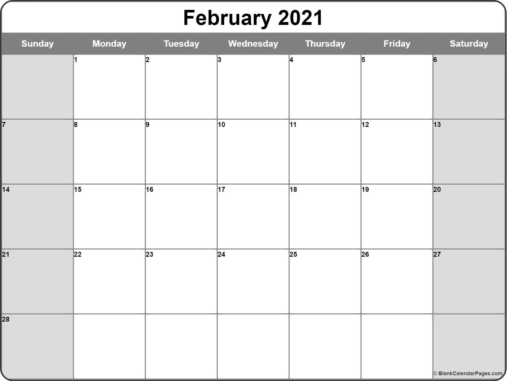 Free Printable Monthly Calendar 2021 Monthly – Welcome To-Free Printable Blank Monthly Calendar Year 2021
