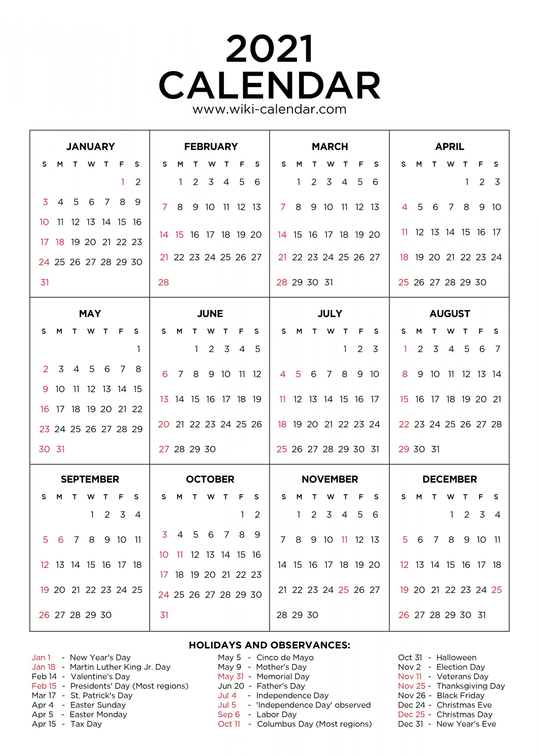 2022 Calendar With Holidays Printable Calendar Template