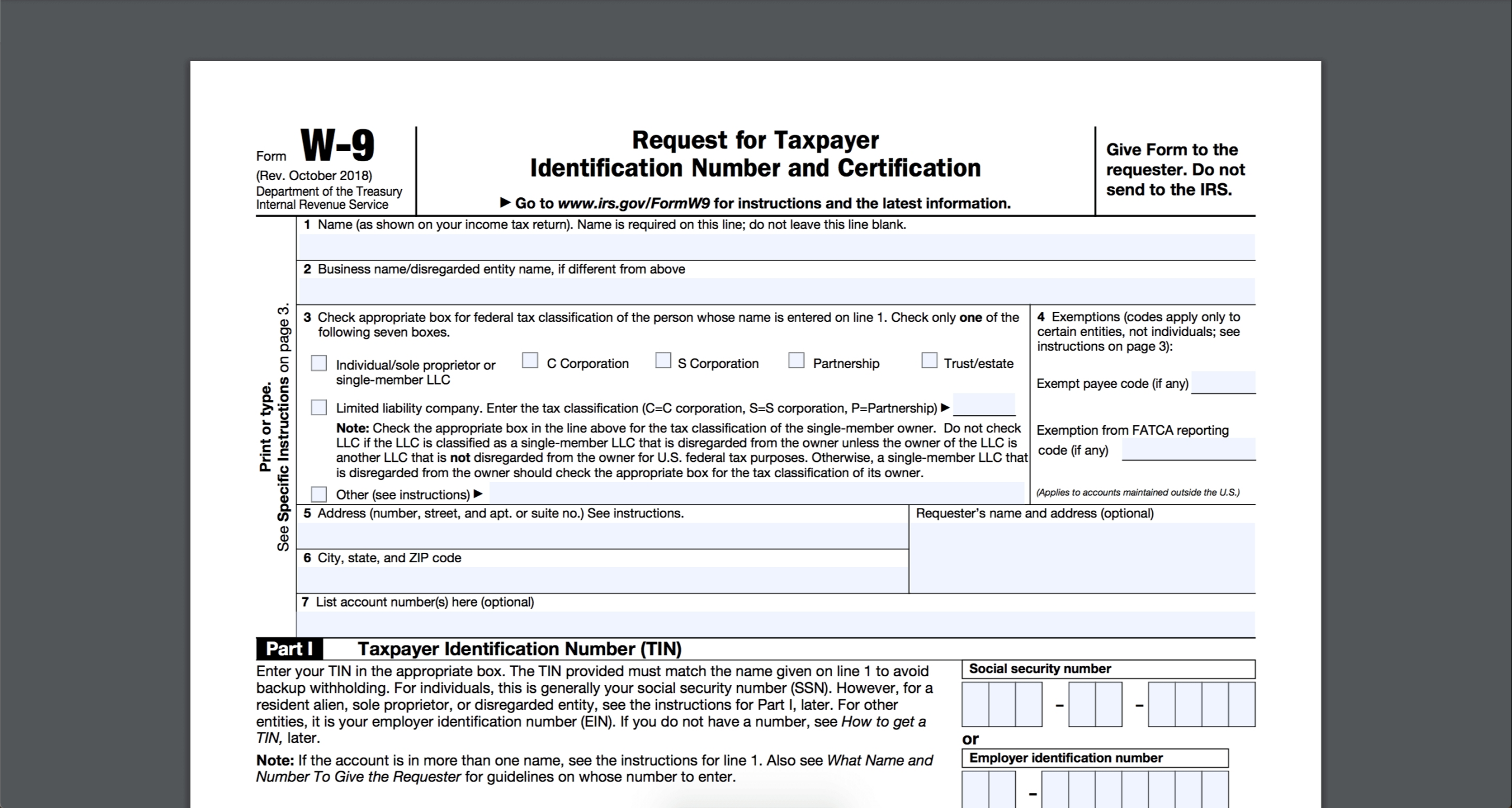 How To Fill Out And Sign Your W-9 Form Online-2021 Printable W 9 Form Free