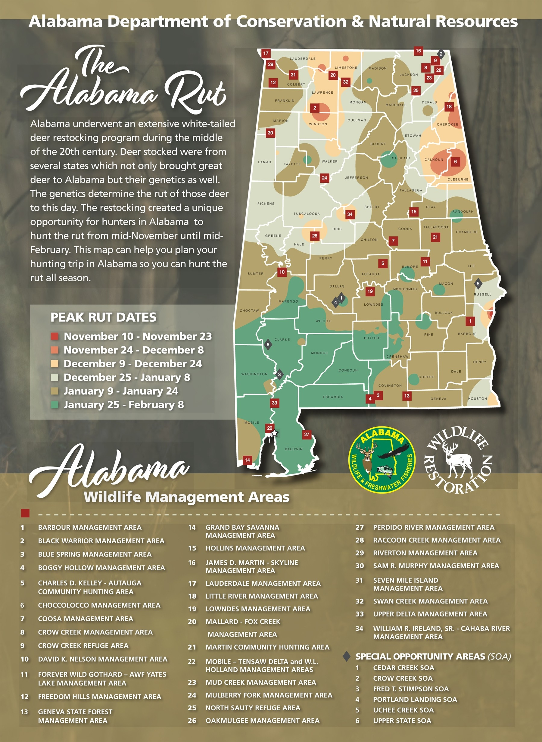 Hunters Can Use The Wff Rut Map To Determine The Likely-2021 Va Rut Predictions