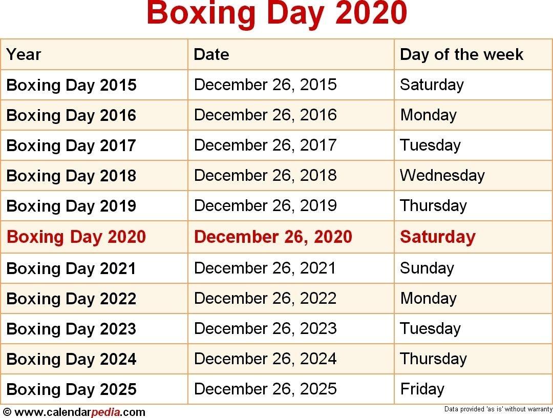 Incredible December 2020 Calendar Boxing Day In 2020   The-Mercantile Holidays Sri Lanka 2021