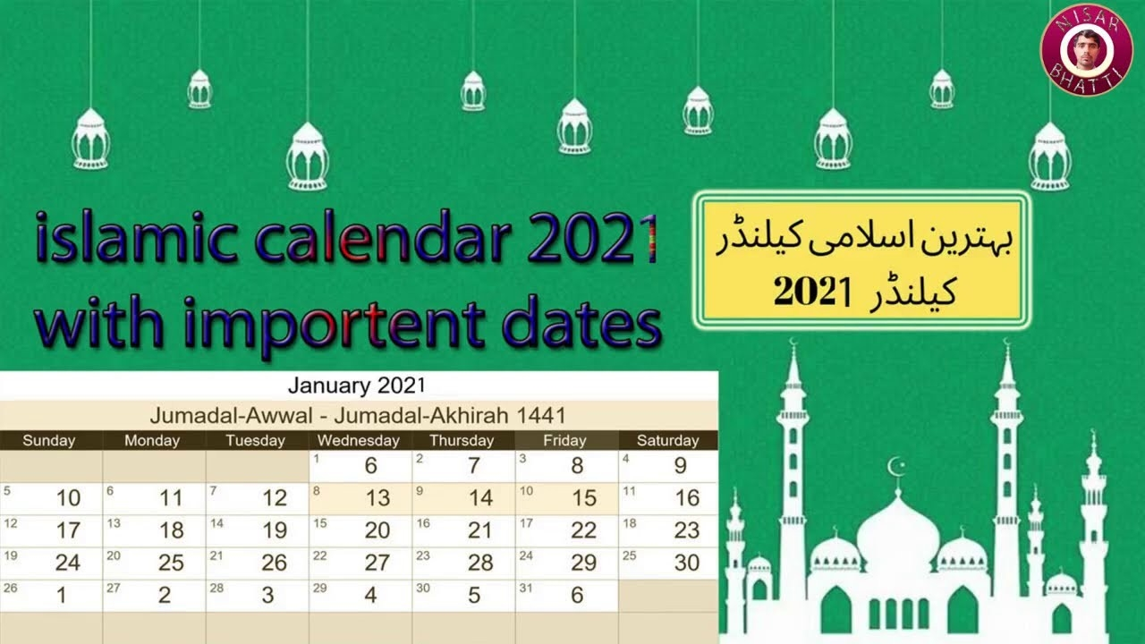 Islamic Calendar 2021 - Youtube-Islamic Calendar 2021