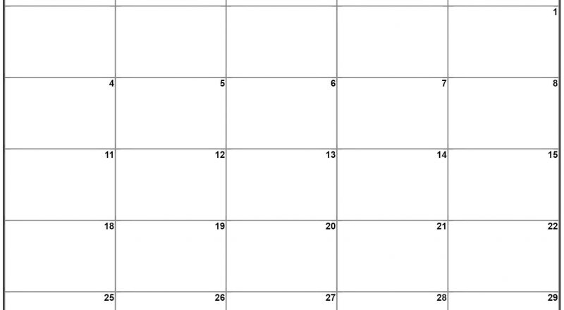 January 2021 Monday Calendar | Monday To Sunday-2021 Calendar That Shows Only Monday Through Friday
