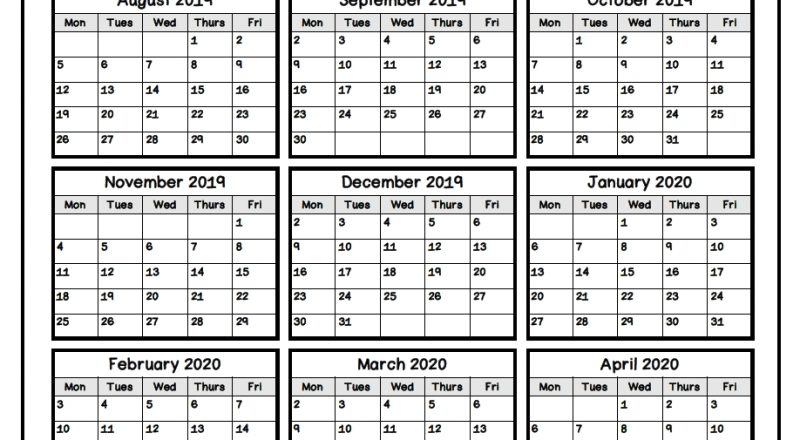 Keep Track Of Attendance With This Simple Form!   Attendance-2021 Printable Attendance Tracker