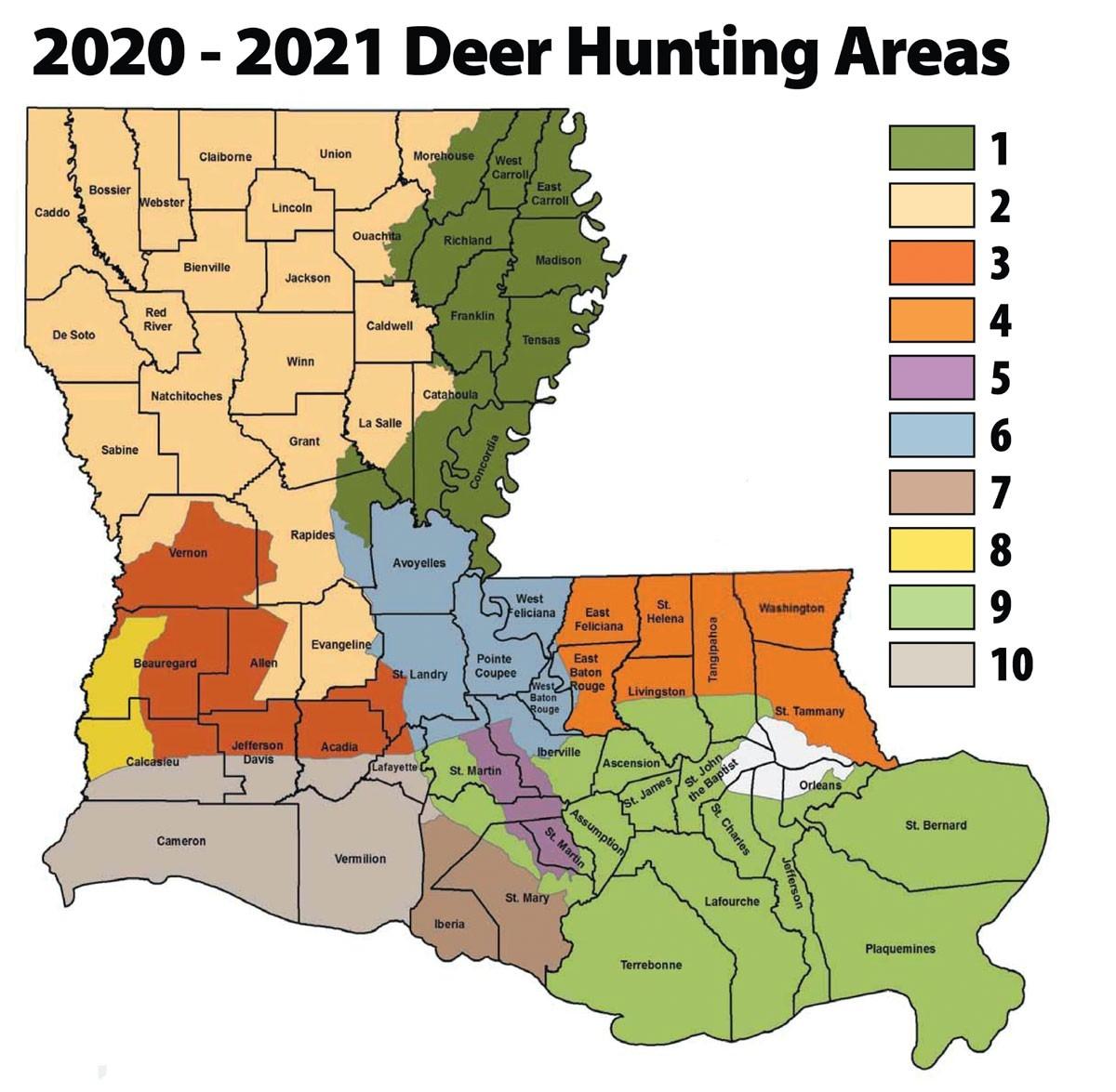 Louisiana'S 2020 Rut Report - Louisiana Sportsman-Peak Rut Predictions For 2021
