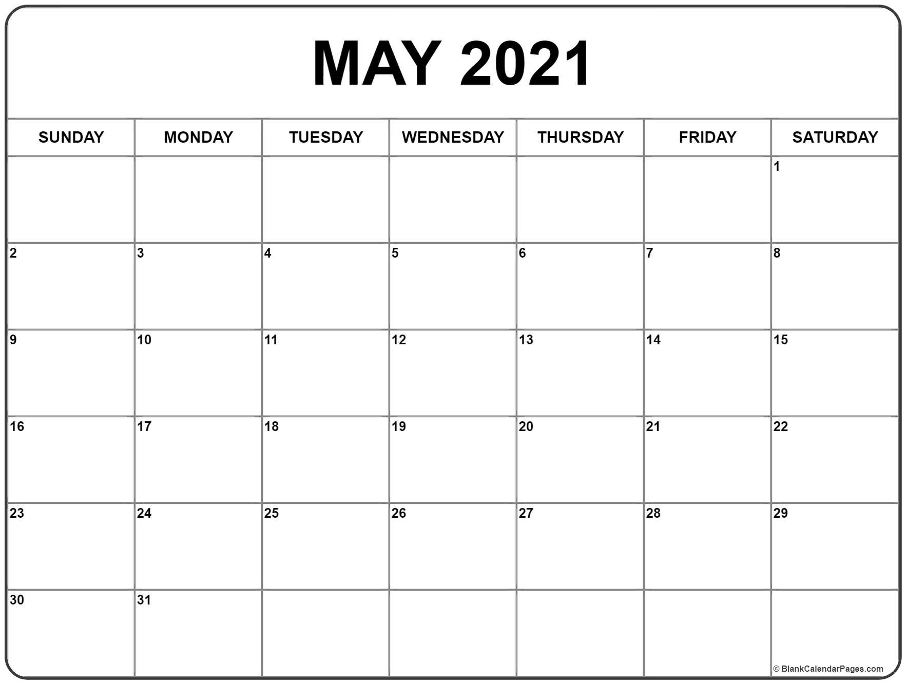 May 2021 Calendar | Free Printable Monthly Calendars-2021 2 Page Per Month May Calendar Picture