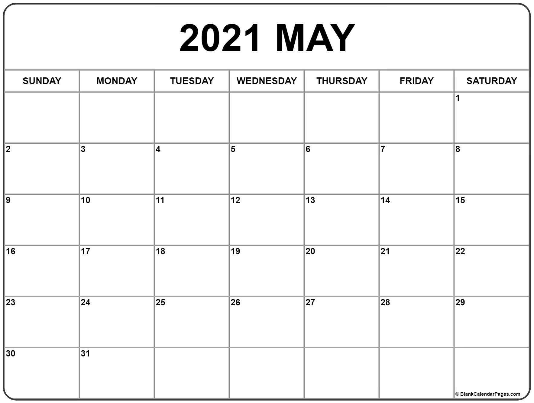 May 2021 Calendar   Free Printable Monthly Calendars-2021 Monthly Fill In The Blanks Print Out