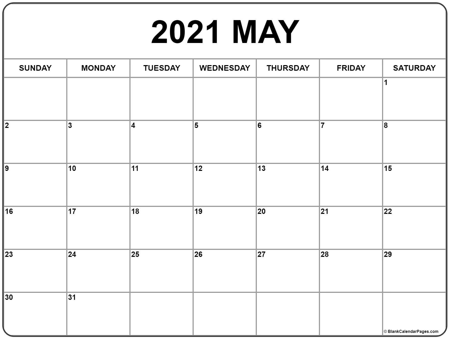 May 2021 Calendar   Free Printable Monthly Calendars-Free Monthly Calendar Printable 2021