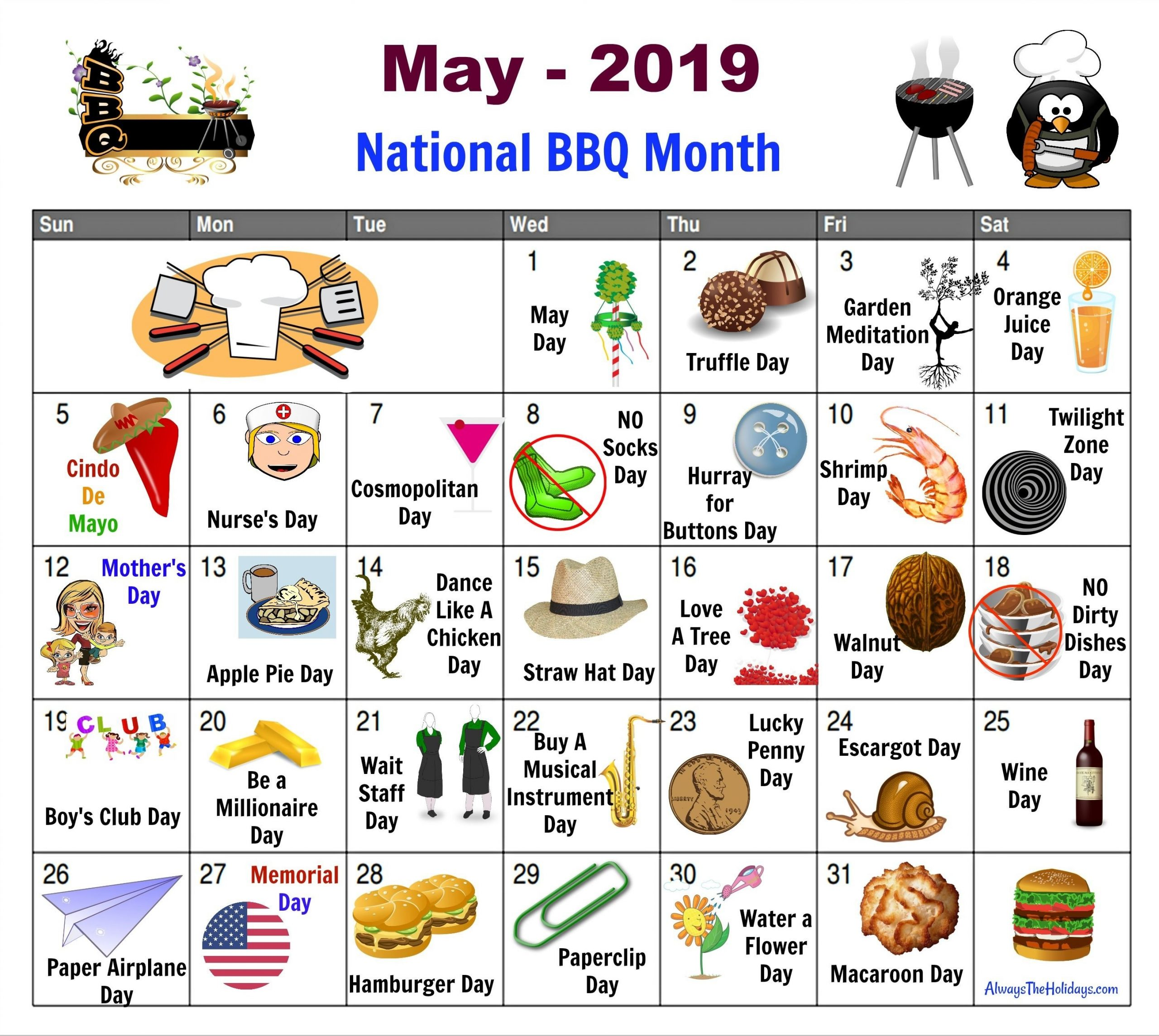 May National Days Calendar - Free Printable. Find Out All-Fun National Day Calendar Of 2021 Printable