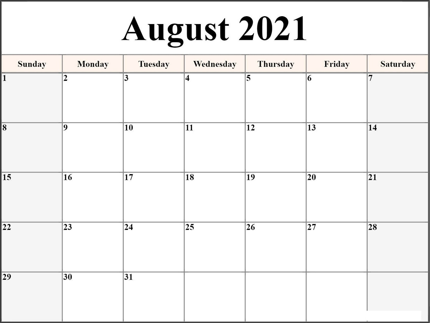 Microsoft Word Calendar Template 2021 Monthly | Free-2021 Monthly Calendar Template Word