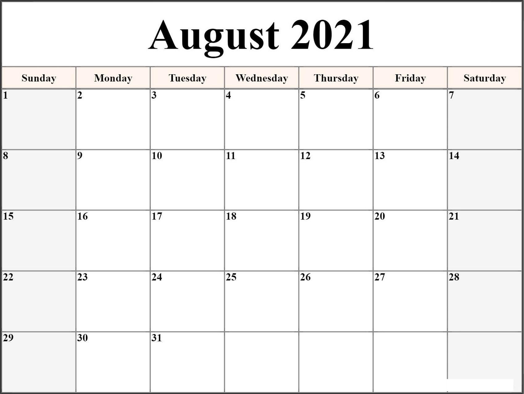 Microsoft Word Calendar Template 2021 Monthly | Free-Microsoft Printable Calendars 2021
