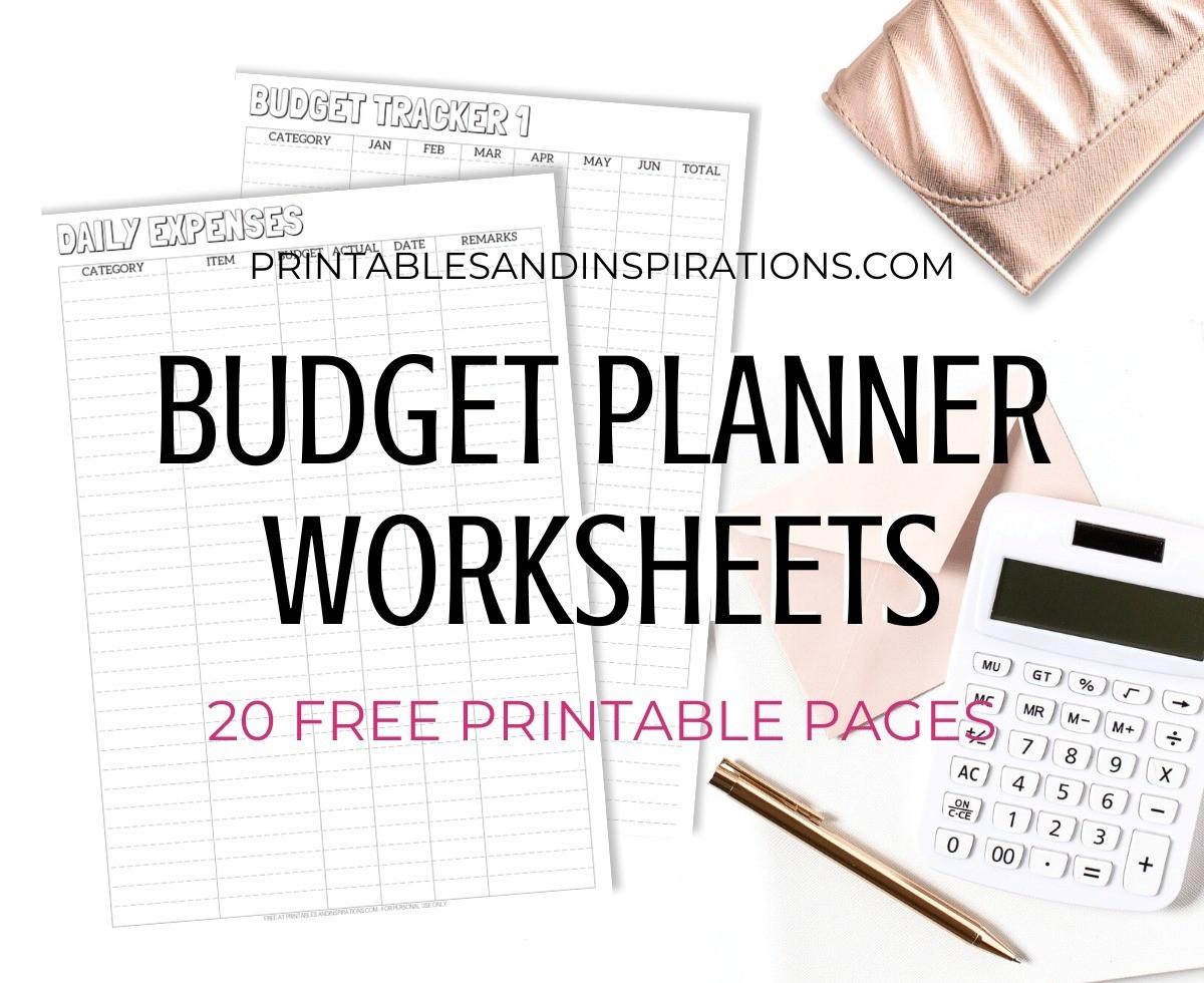 Monthly Budget Planner Worksheets - 20 Free Printables-2021 Printable Bill Planner