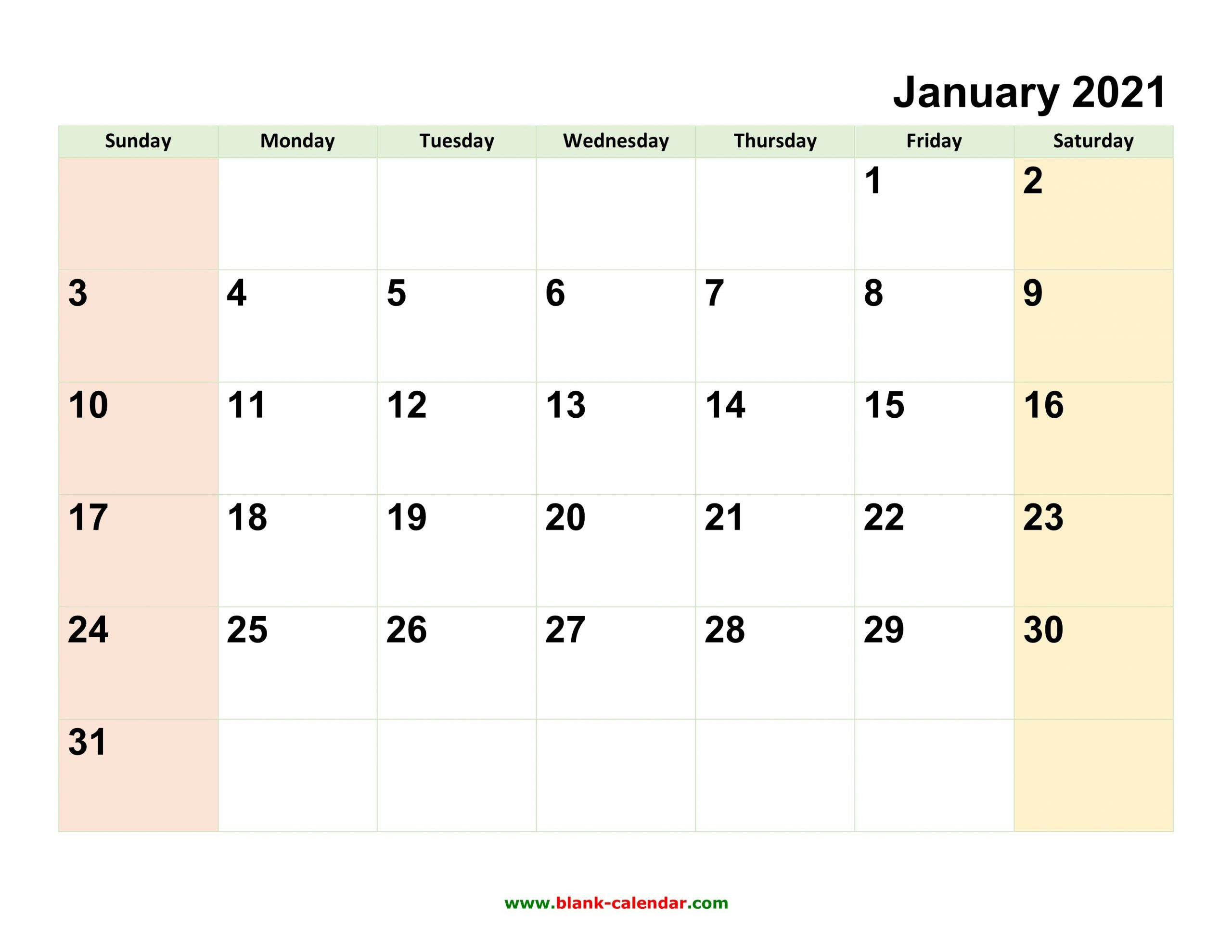 Monthly Calendar 2021 | Free Download, Editable And Printable-2021 Monthly Calendar Template Word