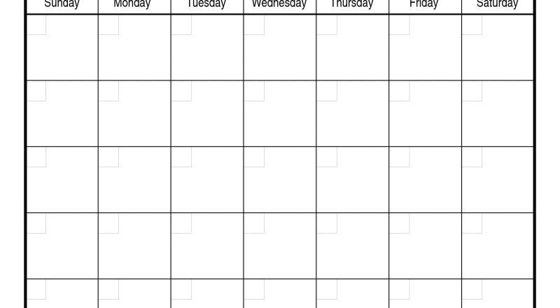 Monthly Calendar Template | Free Printable Calendar-Sundat To Saturday Printable Monthly Blank Calendar