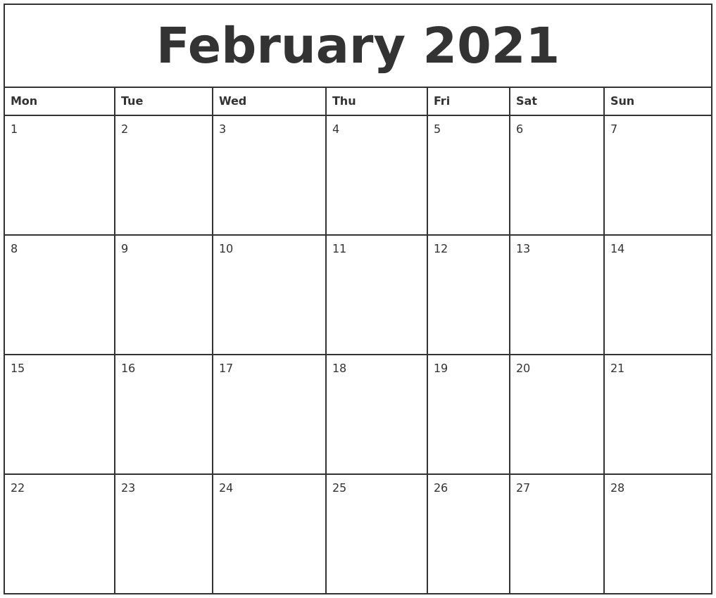 Monthly Planner 2021 Printable Full – Welcome To Our Website-2021 Monthly Fill In The Blanks Print Out