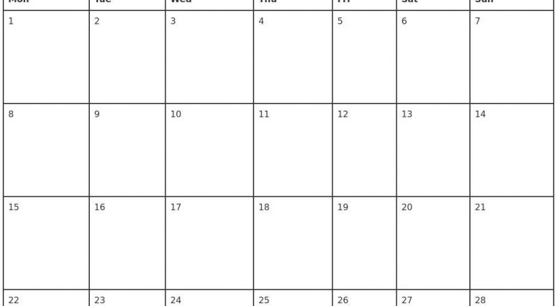 Monthly Planner 2021 Printable Full – Welcome To Our Website-Free Printable Blank Monthly Calendar Year 2021