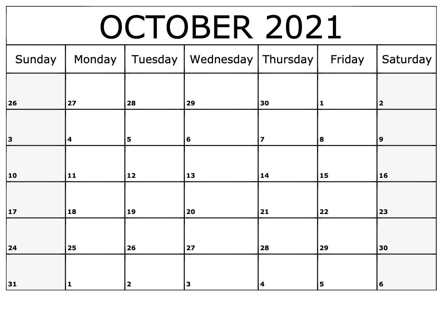 October 2021 Calendar Horizontally Free Layouts For-Jewish Calendar For October 2021