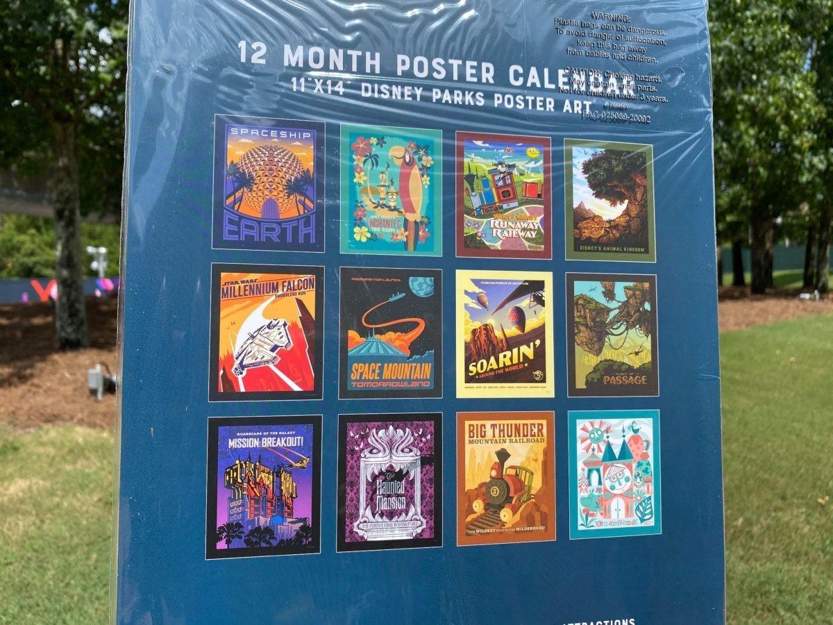 Photos: New 2021 Disney Parks Attraction Poster Calendar-Disney World Waiting Time Calendar 2021