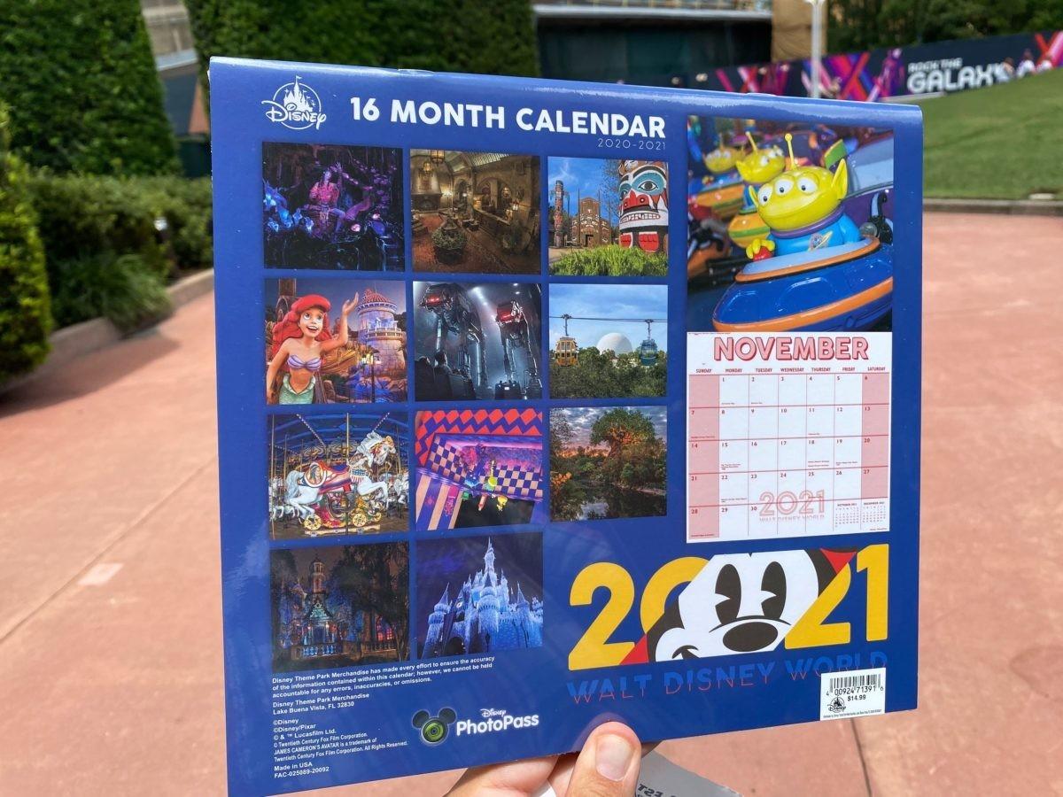 Photos: New Walt Disney World 2021 16-Month Calendar Arrives-Disney World Waiting Time Calendar 2021