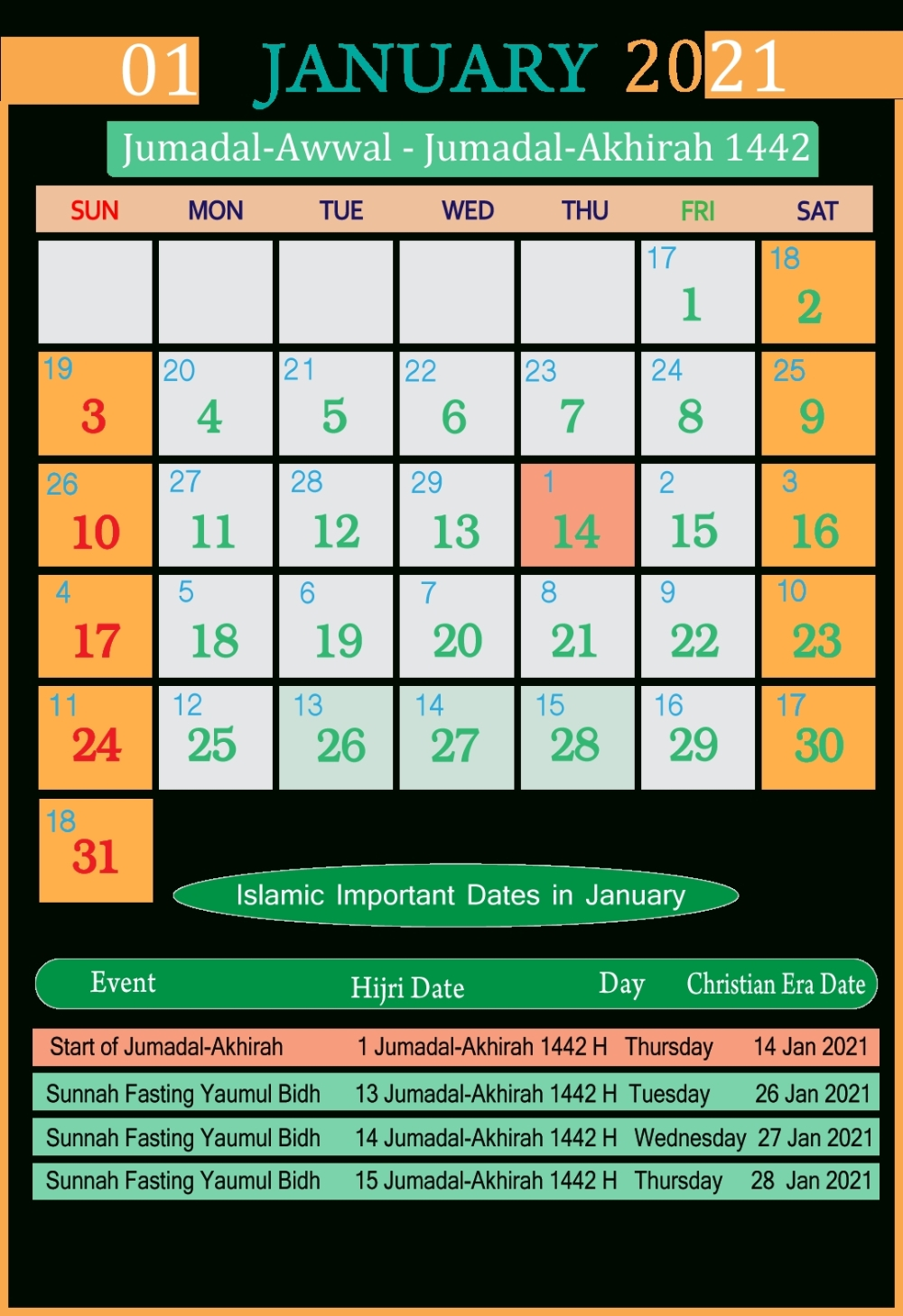 Pin On Calendar 2021-Islamic Calendar 2021