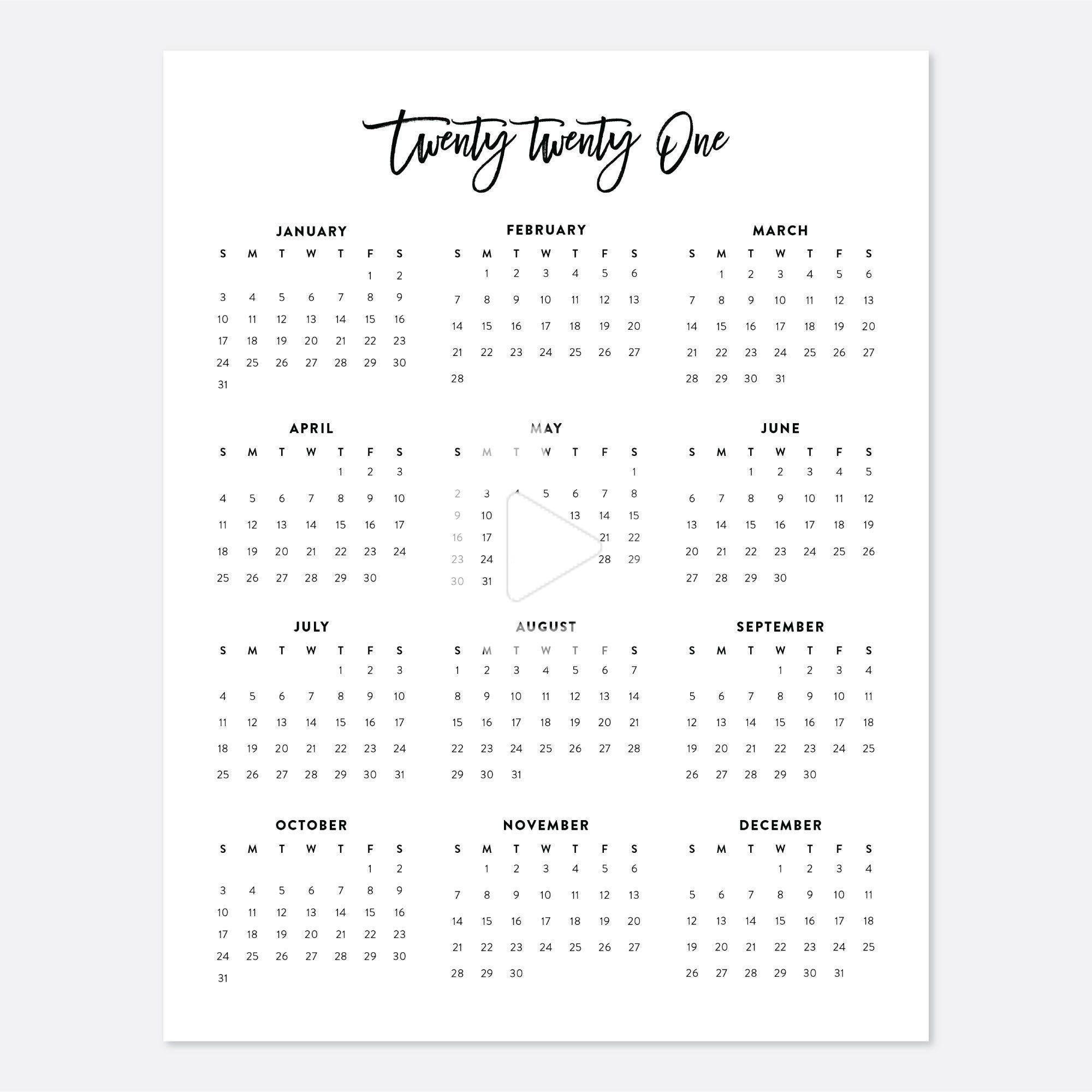 Pin On College Planner-4X6 Printable Calendar 2021 Free