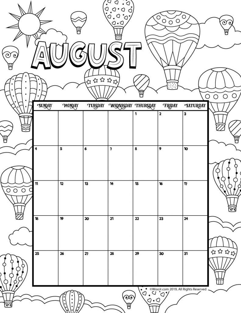 Pin On Kids-June 2021 Calendar Free Printable 81/2 X 11