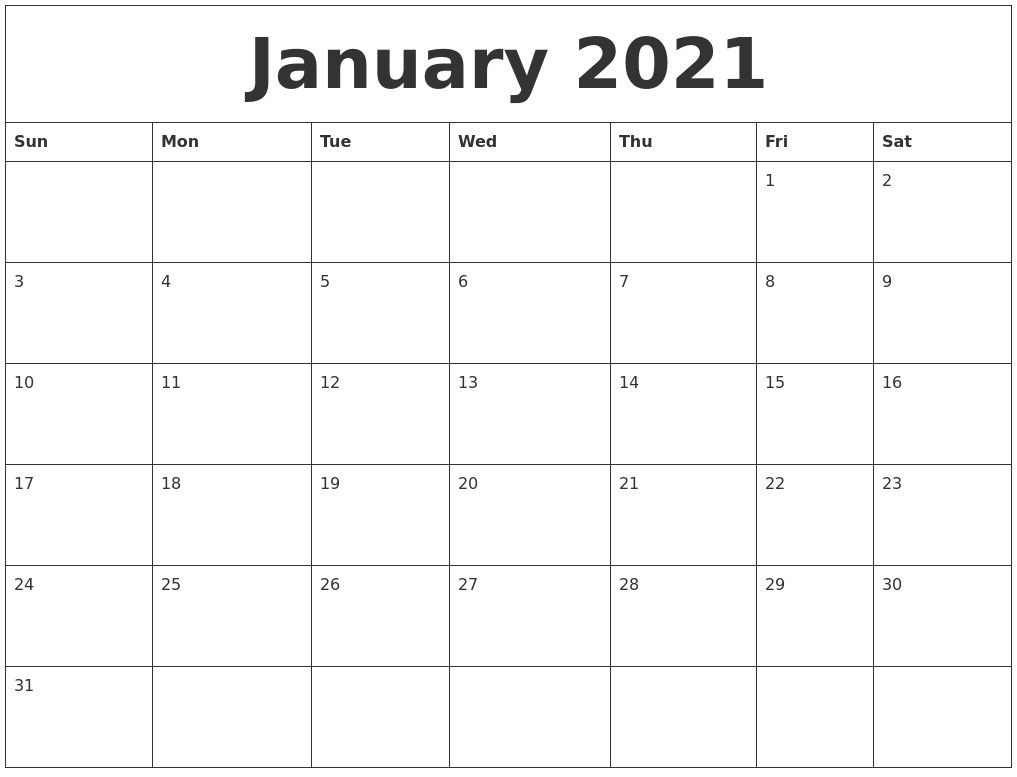 Print Monthly Calendar 2021 Free – Delightful For You To The-Monthly Calendar Sheets 2021