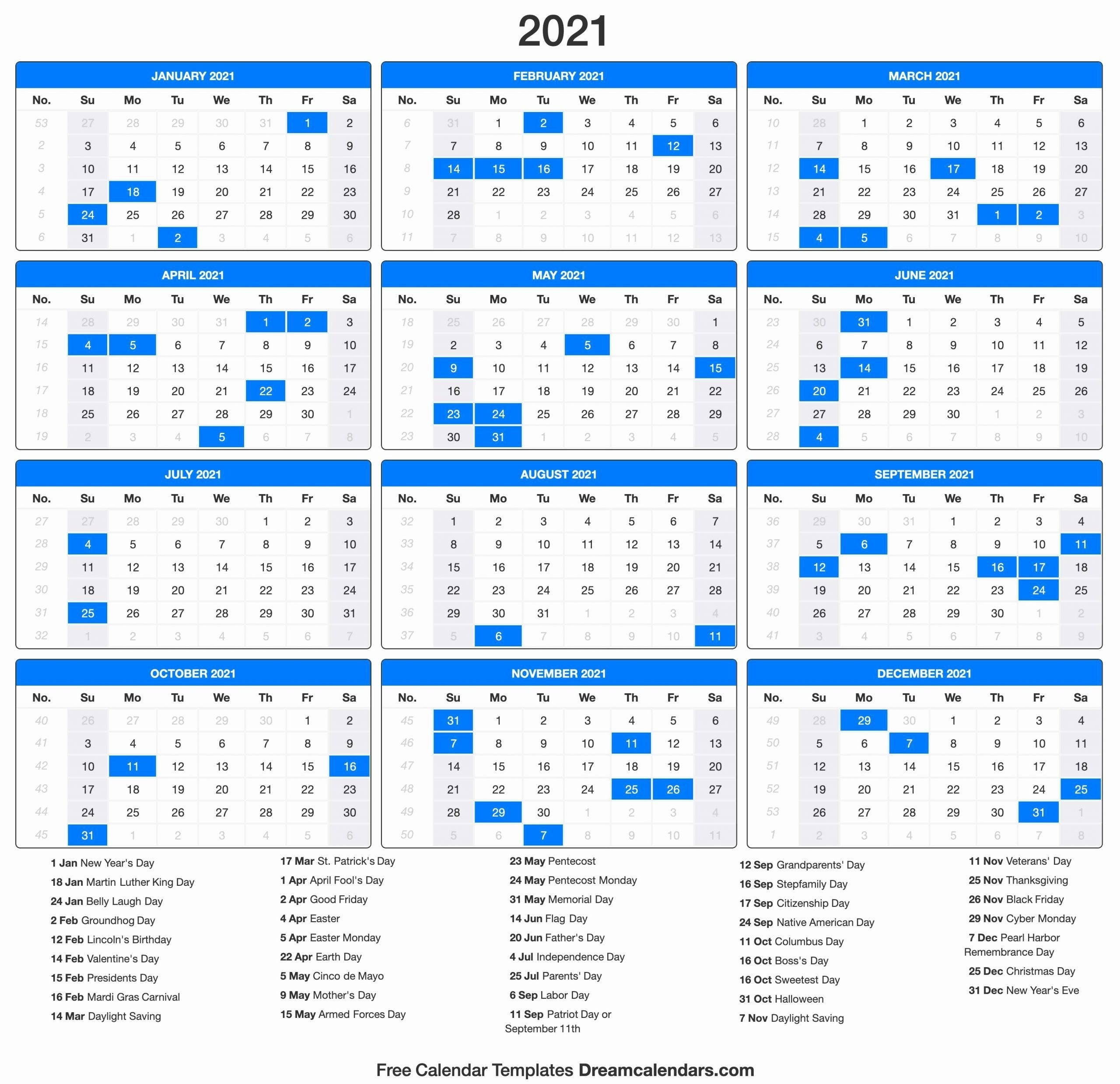 Printable Calendar 2021 | Holiday Calendar, Calendar-Printable Healthcare Awareness Calendar 2021