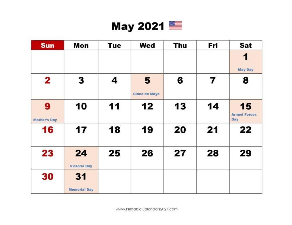 Printable Calendar May 2021, Printable 2021 Calendar With-Jewish Calendar May 2021