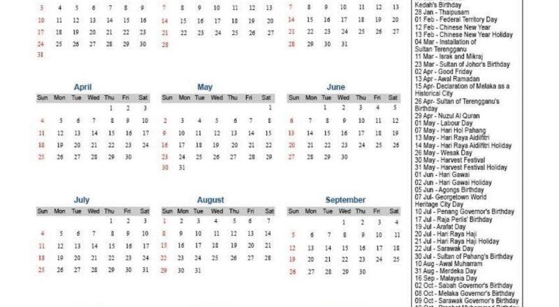 Sarawak Holiday Calendar 2021 [Public & Federal]❤️-Sarawak Almanac 2021 Pdf