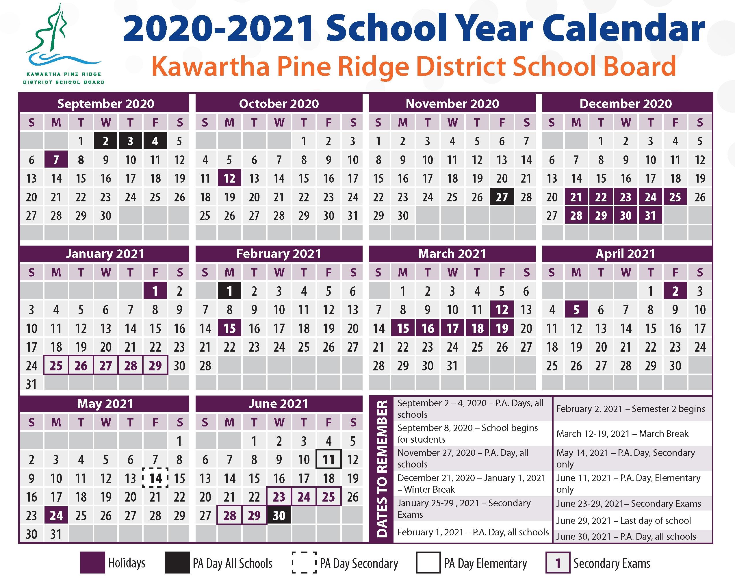 School Calendars-2021 Calendar For Staff Vacation