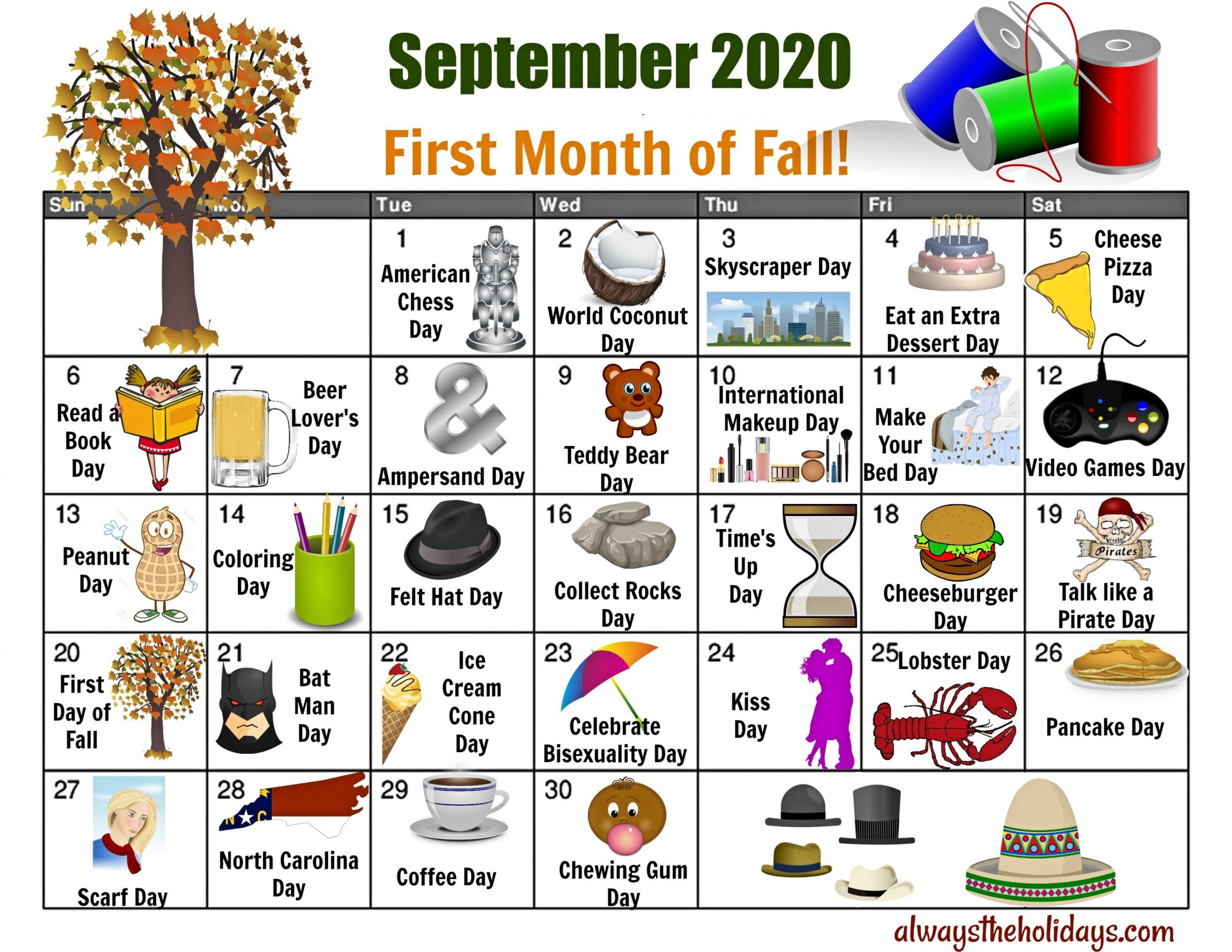 September National Day Calendar - Free Printable Calendars-Fun National Day Calendar Of 2021 Printable