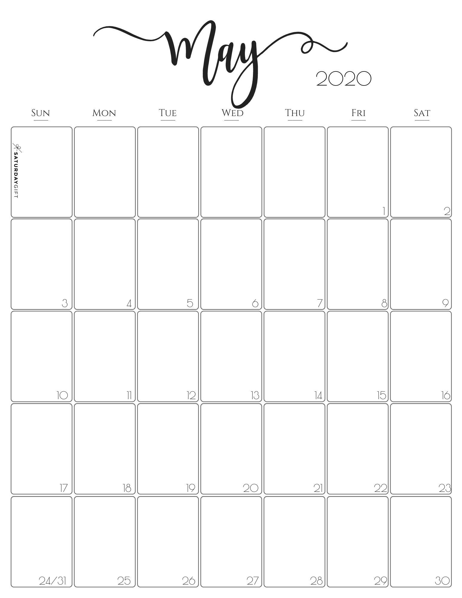 Simple & Elegant Vertical 2021 Monthly Calendar - Pretty-2021 2 Page Per Month May Calendar Picture