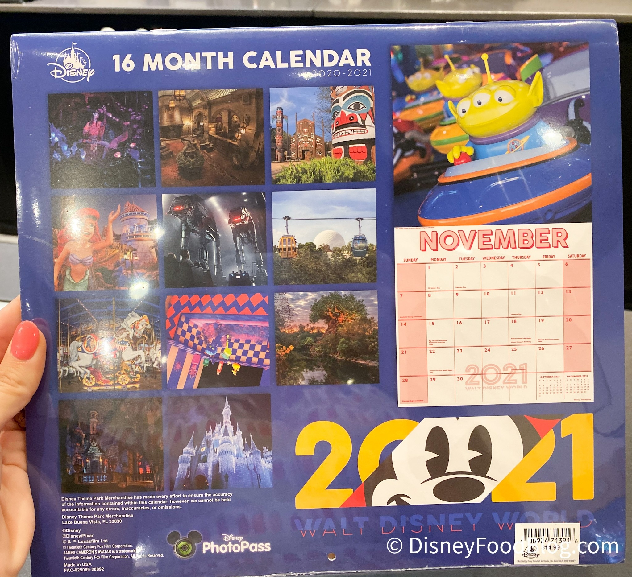 Spotted: A New 2020-2021 Calendar Is Now Available In Disney-Disney World Waiting Time Calendar 2021