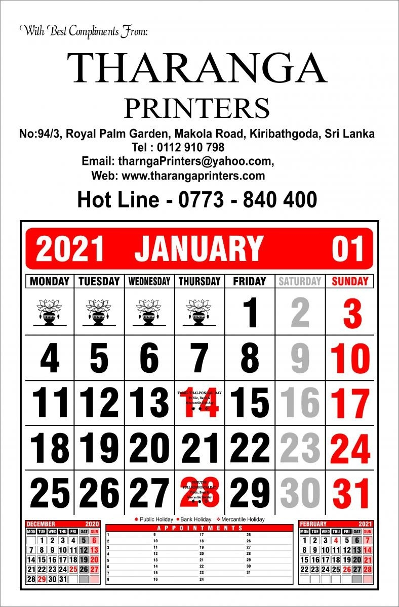 Tharanga Printers - Leading In Offset Printing In Sri Lanka-Mercantile Holidays Sri Lanka 2021