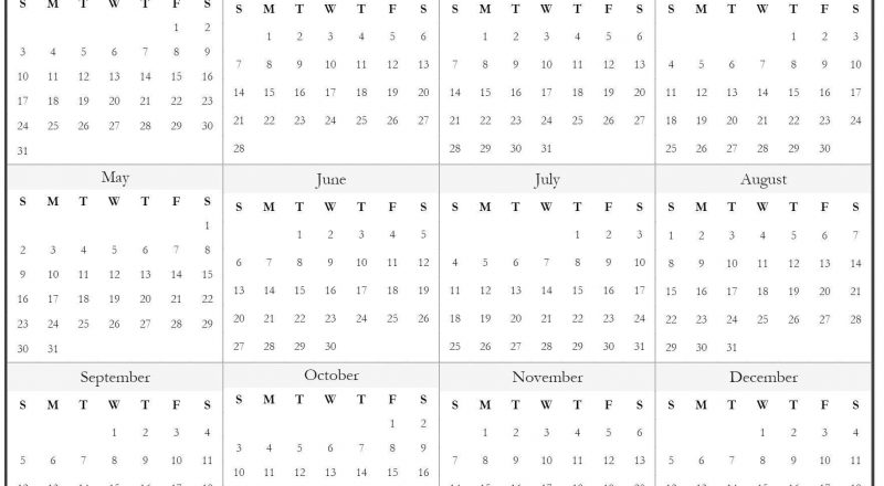 Universal Print Online Calendar 2021 Blank – Pleasant For-Online Calendar 2021