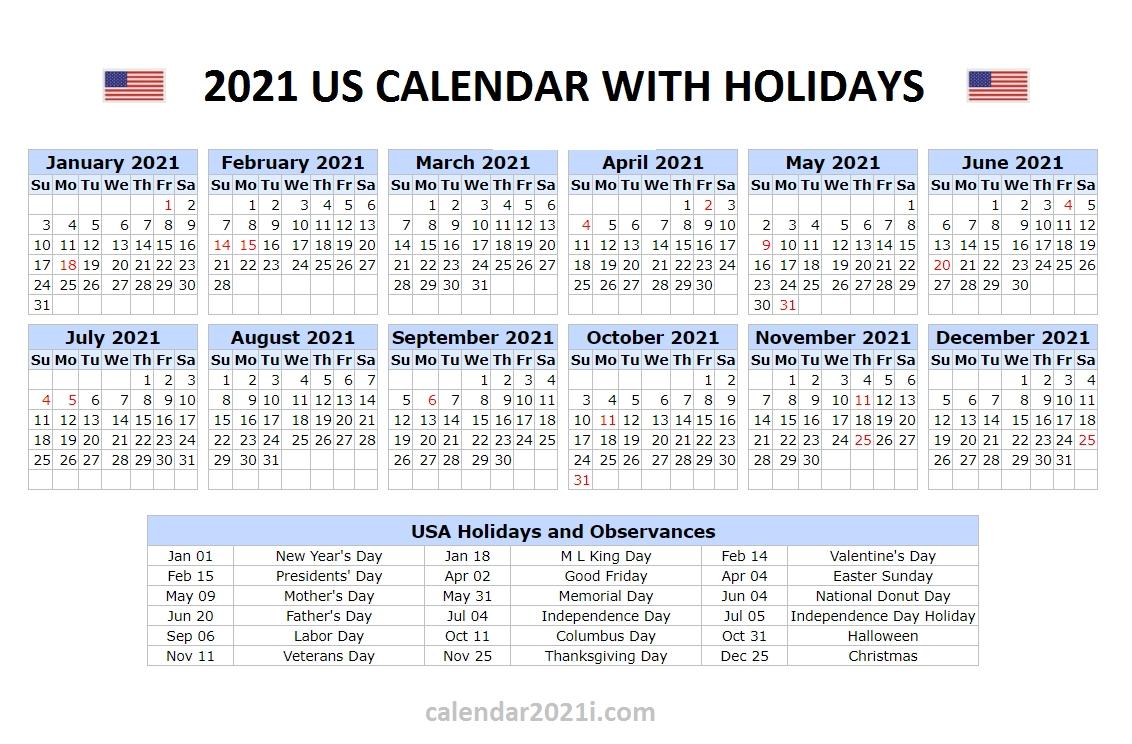 Us 2021 Holidays Calendar | Holiday Words, 2021 Calendar-Bank Holidays Calendar 2021