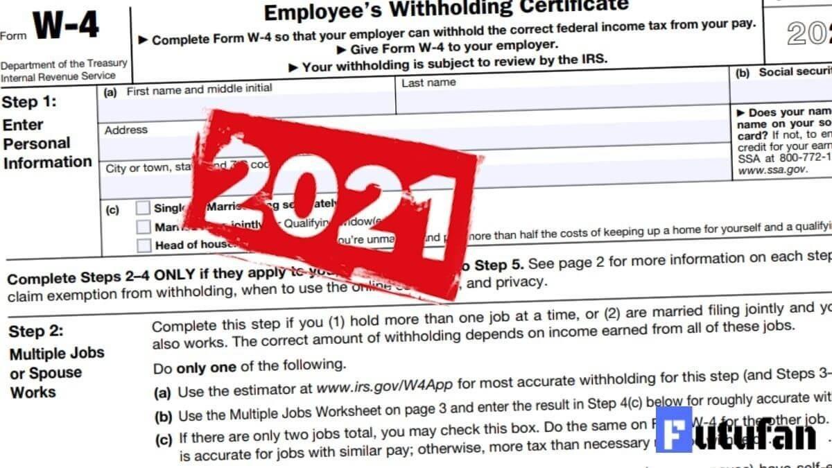 W4 Form 2021 - W-4 Forms-2021 Printable Irs Forms W-4