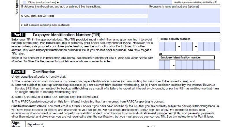 W9 Form 2021 Printable | Payroll Calendar-For W 9 2021 Printable