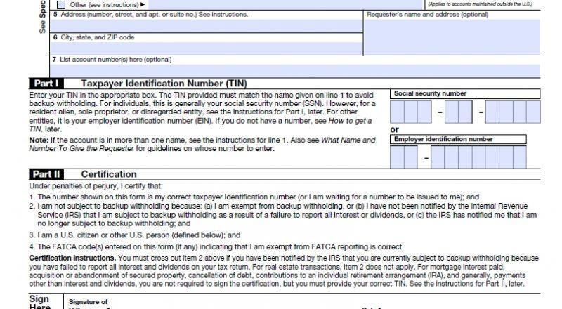 W9 Form 2021 Printable Pdf Irs | W9 Tax Form 2021-Irs Tax Forms For 2021 Printable