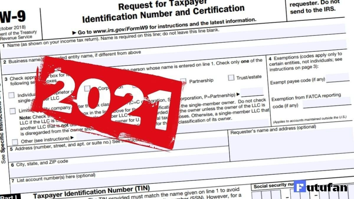 W9 Form 2021 - W-9 Forms-2021 Printable Irs Forms